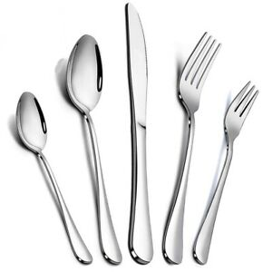 20 Pcs Stainless Steel Flatware Set Service for 4 Kitchen Cutlery Silverware