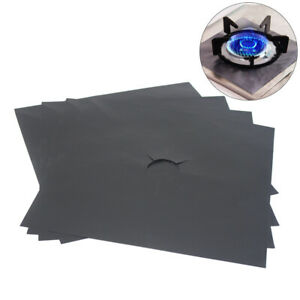 4pcs Universal Heavy Duty Gas Hob Protector Sheets non-stick oven liner
