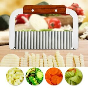Crinkle Wavy Cutter Vegetable Potato Chip French Fry Stainless Steel Slicer Tool