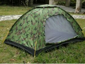 Double tent camouflage outdoor camping for 3 4 people rainproof and sunscreen