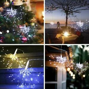 Hanging Firework LED Fairy String Light Christmas Party Decor 8 Modes w Remote