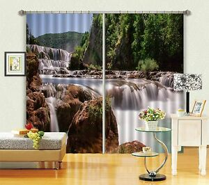 3D Mountain 876 Blockout Photo Curtain Printing Curtains Drapes Fabric Window US