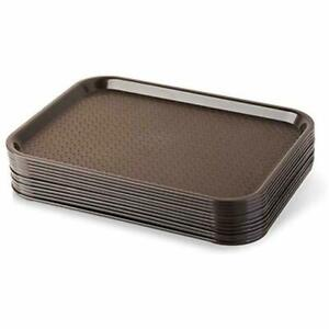 Serving Trays 24395 Brown Plastic Fast Food Tray, 10 By 14-Inch, (Set of 6)