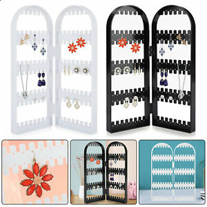 120Holes Earrings Ear Studs Jewelry Display Rack Stand Organizer Case Holder Box $8.98