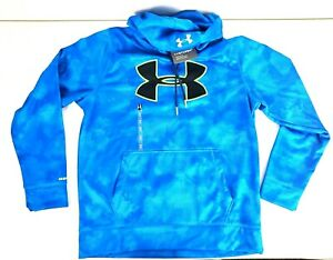 Under Armour Mens Hooded Hoodie Sweatshirt Loose Cold Gear Blue Size Large NWT $29.97