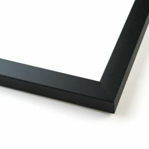 9x17 Black Wood Picture Frame With Acrylic Front and Foam Board Backing