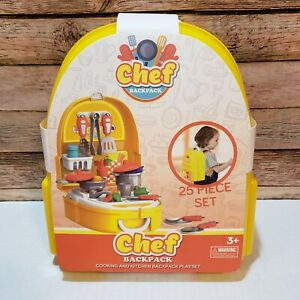*World Tech Toys Chef Backpack Cooking And Kitchen Play set 25 Piece New $14.99