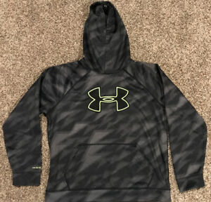 Under Armour Storm Youth Boys XL Black Gray & Yellow Hoodie A29 $9.29