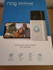 Ring Video Doorbell (2nd generation) Camera Satin Nickel Wifi 1080 HD Wireless