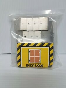 Plylox Hurricane Window Clips 1 2quot; 20 pcs Pack STAINLESS STEEL Fast Free Ship