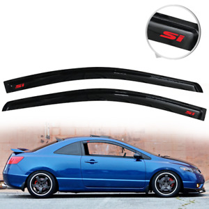 Fit For 06 11 Honda Civic Coupe Rain Window Visor Deflector Vent Guard W Red SI $36.89