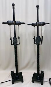Diego Giacometti pair of large bronze owl table lamps $3999.00