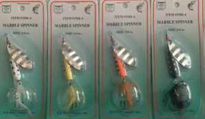 Marble Spinner 1 4 OZ Trout Lures 4 Assorted Colors