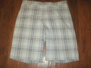 Men's Nike Golf Dri Fit Grey Purple Plaid Shorts Size 35 NWOT! $14.99
