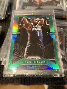 ZION WILLIAMSON ROOKIE CARD HOT PACKS PRIZM GREEN REFRACTOR *READ DESCRIPTION*