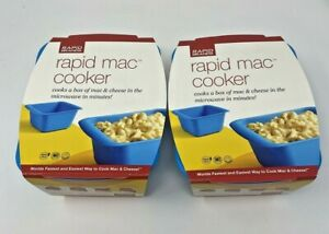 New Rapid Mac Cooker- Microwave Boxed Macaroni and Cheese in 5 Minutes.LOT OF 2