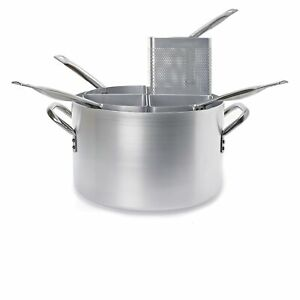 Pasta Cooker Aluminum High With 4 slices Drilled Ø 15 11/16in H.9 13/16in