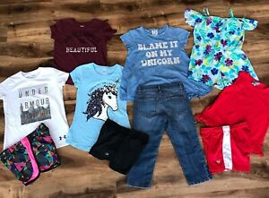 Lot of Girls Clothes Sz 7 8 Jessica Simpson Justice PPLA Under Armour Gap $9.99