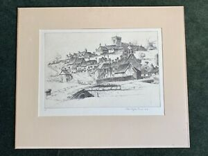 """Original John Taylor Arms signed Etching Print """"The Old Order"""" 1948 $75.00"""