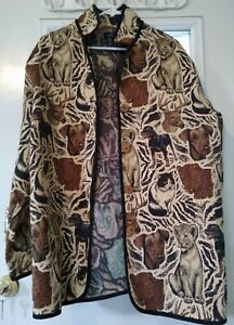 Penningtons Jacket Dog Lion Rottweiler Cat Leopard Hunt Terrier 3X Large