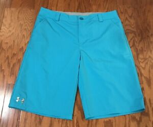 UNDER ARMOUR YOUTH XLARGE YXL ROYAL BLUE GOLF CASUAL SHORTS EUC XL $9.99