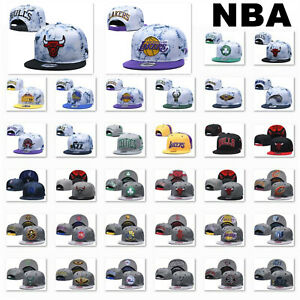Unisex Men Women Adjustable Snapback Basketball Embroidery NBA Team Baseball Cap