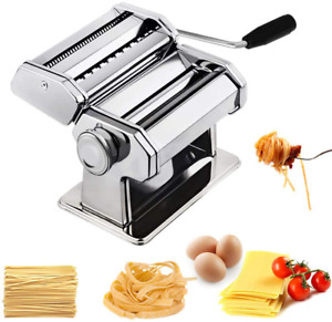 Stainless Steel Fresh Pasta Maker Machine Durable With 9 Thickness Settings
