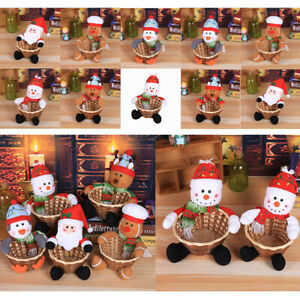 Eco-Friendly Merry Christmas Candy Storage Basket Baskets Santa Claus Basket US