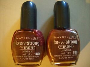 Maybelline Forever Strong Iron Nail Polish LASTING LILAC 180 Lot of 2