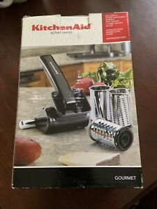 Kitchen Aid Rotary Grater 3 Stainless Stl Blades Fine/Coarse/Slice New