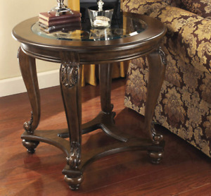 Signature Design By Ashley Norcastle Brown Round End Table - New