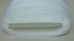 WHITE SOFT NYLON TULLE MESH FABRIC 2 YARDS X 73quot; WIDE MADE IN USA