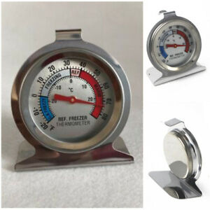 1Pc Stainless Steel Refrigerator Freezer Dial Type Thermometer Temp Meter Hang
