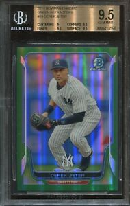 2014 Bowman Chrome Green Refractor #89 Derek Jeter BGS 9.5 psa 10 40 75 Made $119.00