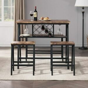 O&K FURNITURE 4-Piece Counter Height Dining Room Table Set, Bar Table with One B