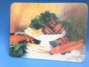 KITCHEN CUTTING BOARD - TEMPERED GLASS - VEGETABLES -  NEW
