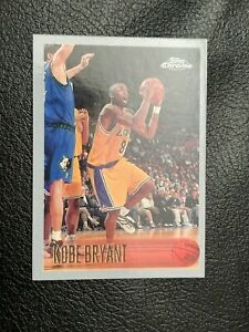 1996 Kobe Bryant Rookie Card Topps Chrome #138