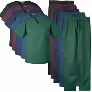 Medgear Men#x27;s Stretch Scrubs Set V neck Top and Cargo Pants for Men and Women