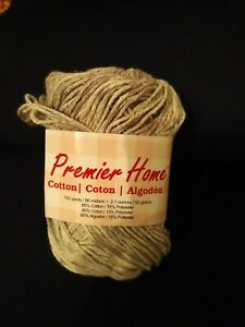 Premier Home Cotton yarn Grey Splash 60 g 105 yds 85% cotton 15% polyester
