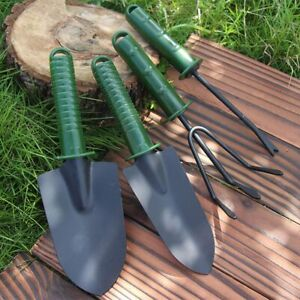 4pcs Garden Tools Set Trowel Rake Shovel Heavy Duty Metal Outdoor Ergonomic $11.99