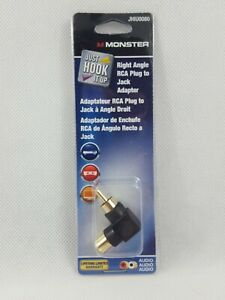 Monster Right Angle RCA Plug to Jack Adapter JHIU0080 D5 $2.95