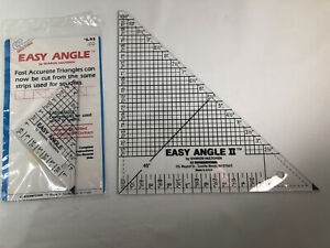 Lot Of 2 EZ Angle Quilting Rulers Easy I amp; II Hultgren $18.00