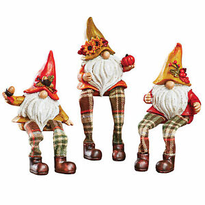 Fall Gnome Sitter Set Of 3