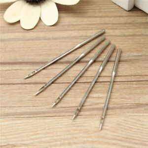 5Pcs Leather Sewing Needles Large Sewn Shoe Repair Stitching Hand Tool Crochet $7.99
