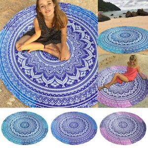 Large Round Mandala Meditation Floor Mat Tapestry Indian Bohemian Beach Tapestry