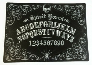 Ouija Board Placemats Set of 4 Vinyl Halloween Foam Back Black Mystic Gothic