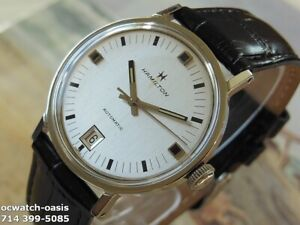 1960#x27;s Vintage HAMILTON AUTOMATIC Stunning Silver Dial Serviced amp; Warranty $495.00