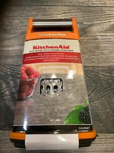 KitchenAid box grater citrus orange with storage container new