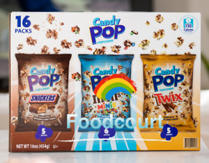 Candy Pop Popcorn Variety Pack 16 Bags 16 oz