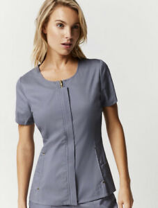 Jaanuu Women's Grey Scrubs Set.